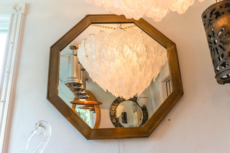 Octagonal Patinated Surround Mirror, by Mastercraft In Excellent Condition For Sale In Bridgehampton, NY