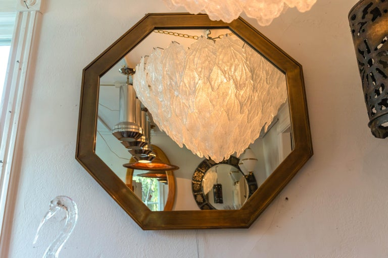 20th Century Octagonal Patinated Surround Mirror, by Mastercraft For Sale