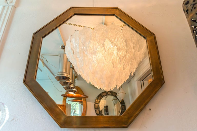 Bronze Octagonal Patinated Surround Mirror, by Mastercraft For Sale