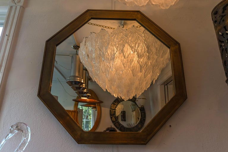 Octagonal Patinated Surround Mirror, by Mastercraft For Sale 1
