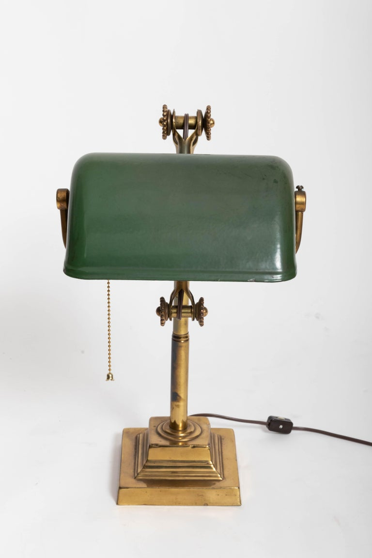 Georgian Turn-of-the-Century Brass Desk Lamp For Sale