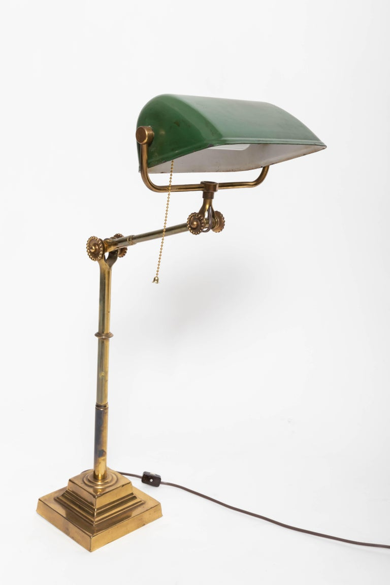 English Turn-of-the-Century Brass Desk Lamp For Sale