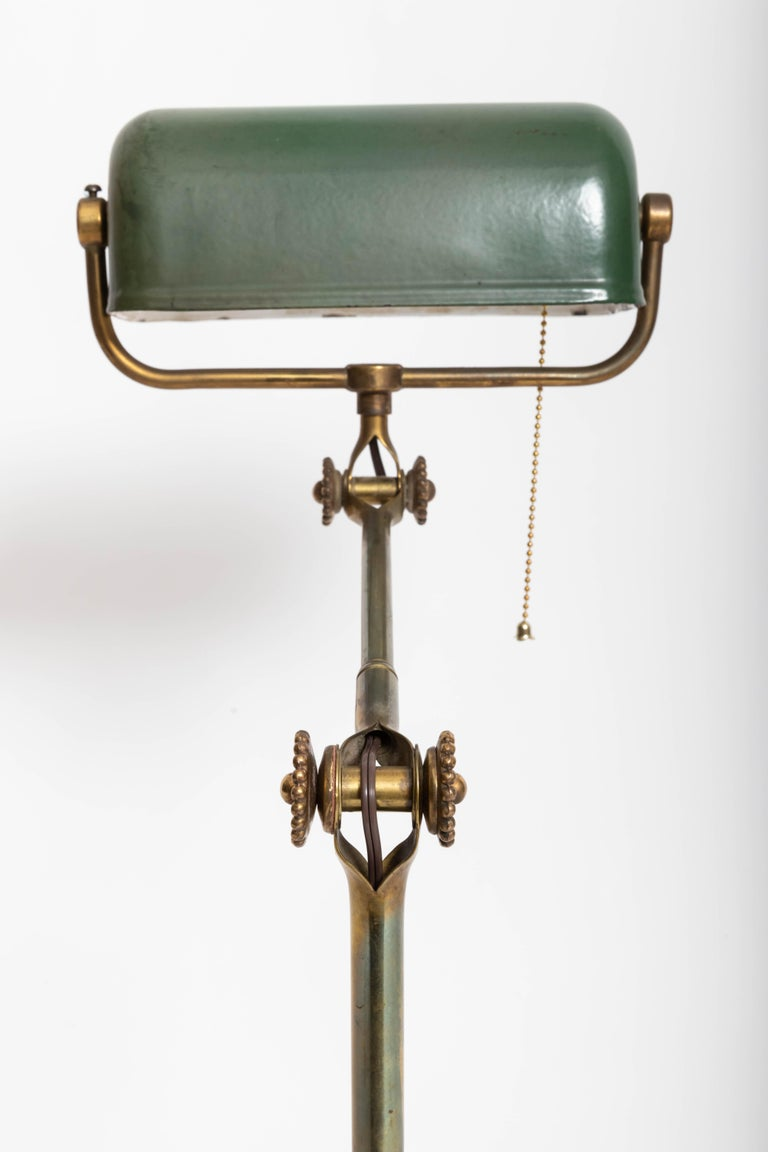 Early 20th Century Turn-of-the-Century Brass Desk Lamp For Sale