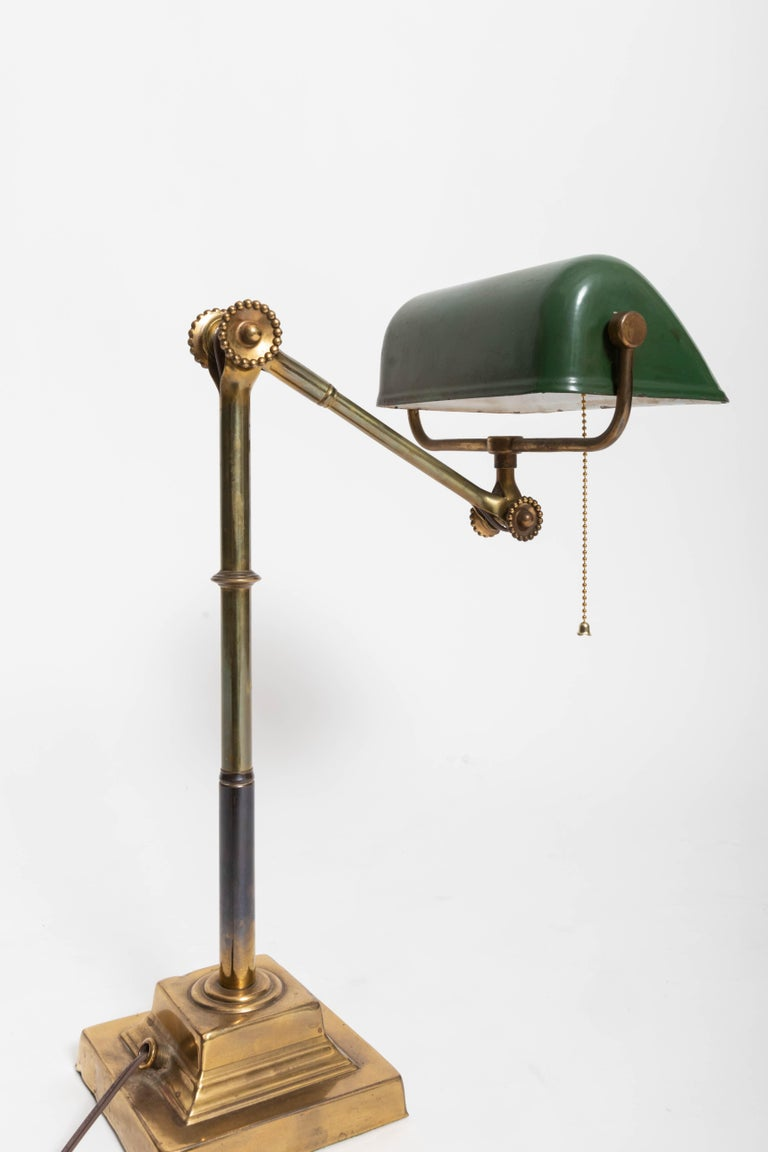 Turn-of-the-Century Brass Desk Lamp For Sale 1