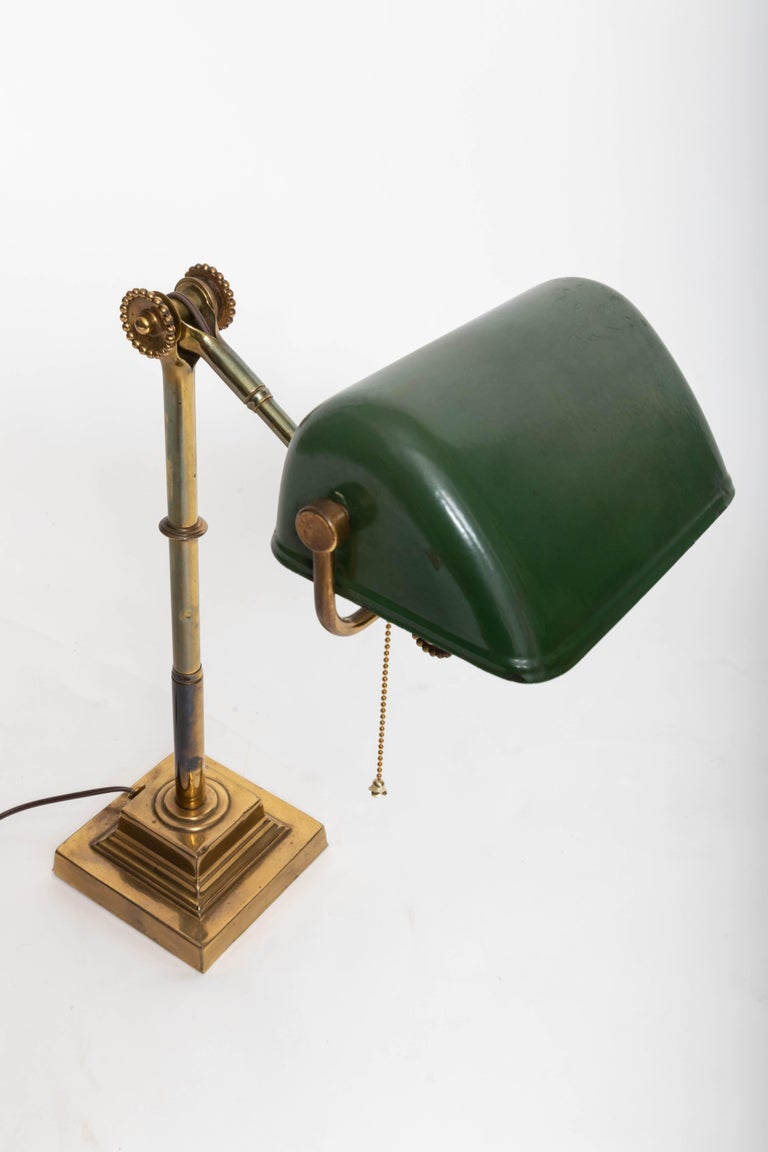 Turn-of-the-Century Brass Desk Lamp For Sale 3