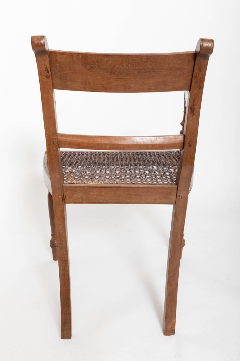 Set of Six 19th Century British Colonial Satinwood Armchairs In Good Condition For Sale In East Hampton, NY
