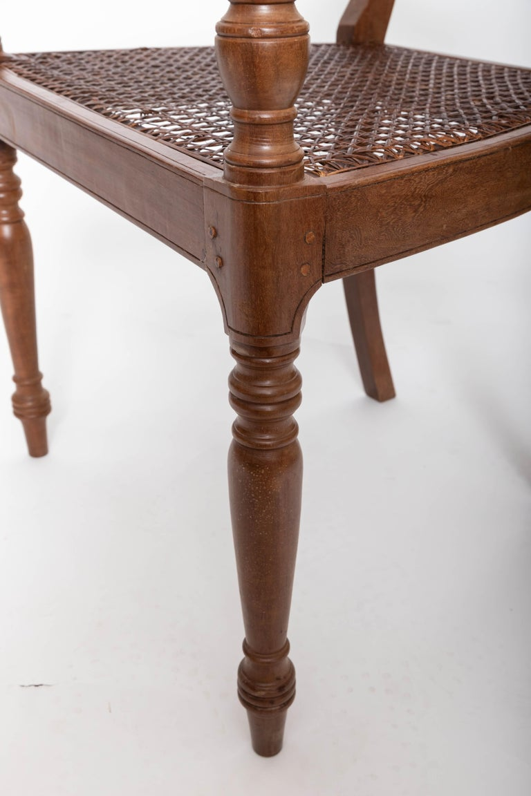 Set of Six 19th Century British Colonial Satinwood Armchairs For Sale 2