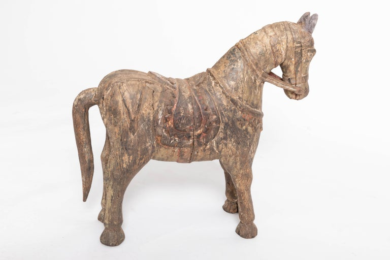 19th Century Carved Teak Horse For Sale 2