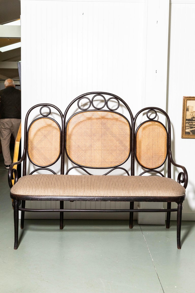 Vienna Secession Thonet Bench by Gebruder Thonet For Sale