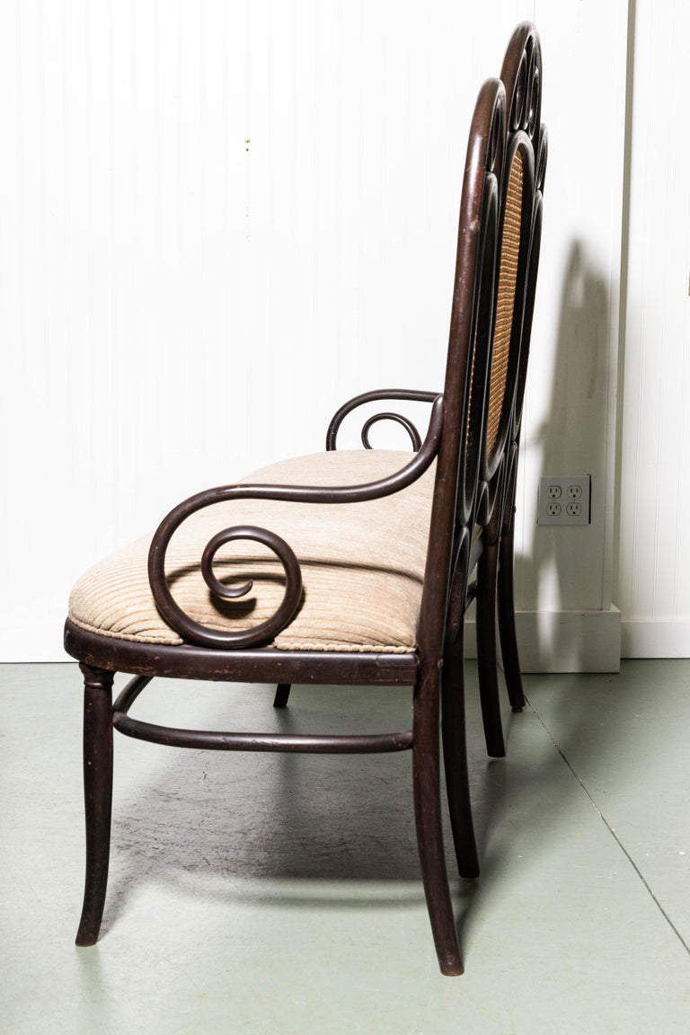Thonet Bench by Gebruder Thonet In Good Condition For Sale In Southampton, NY