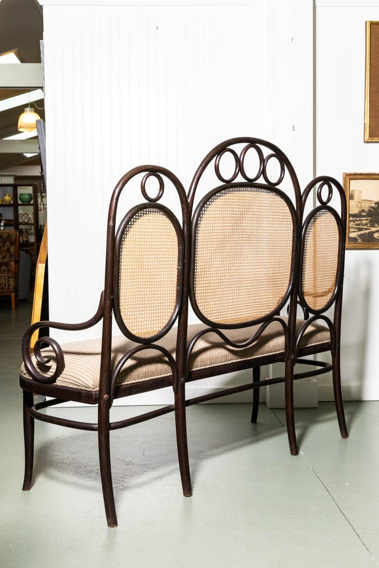 19th Century Thonet Bench by Gebruder Thonet For Sale