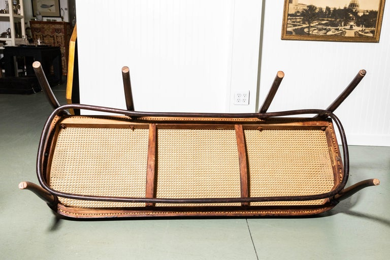 Thonet Bench by Gebruder Thonet For Sale 1