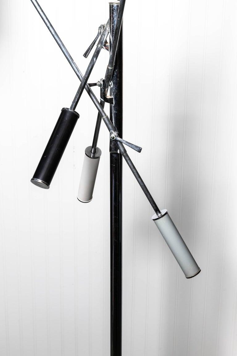 Chrome Arredoluce Monza Triennale Floor Lamp For Sale