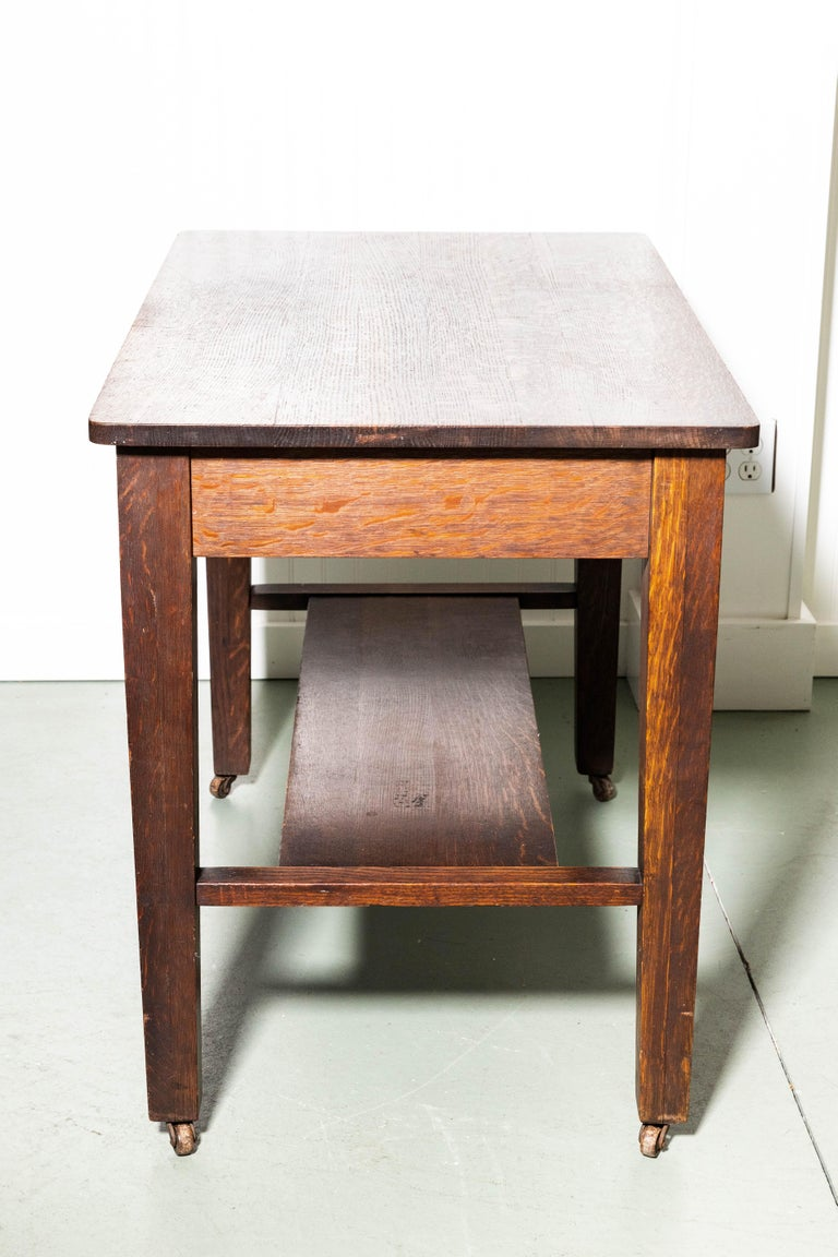 American Antique Mission Writing Table by Cadillac Cabinet Company For Sale