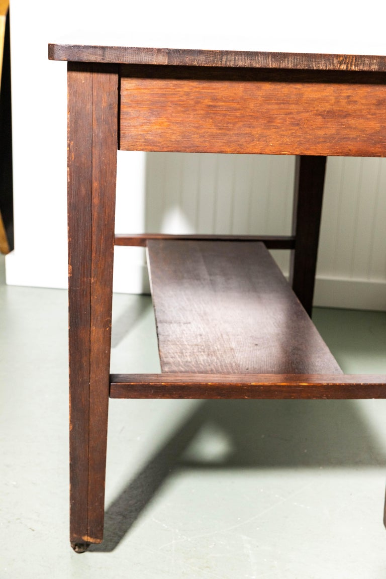 20th Century Antique Mission Writing Table by Cadillac Cabinet Company For Sale