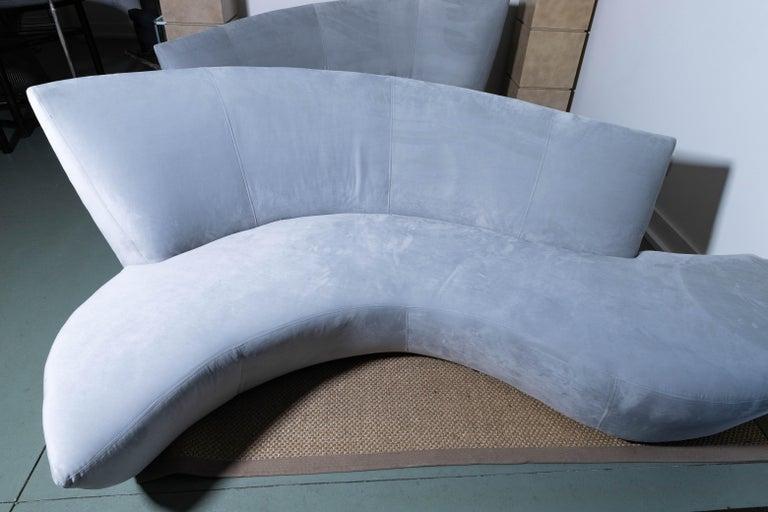 Pair of Vladimir Kagan Bilbao Serpentine Sofas For Sale 1