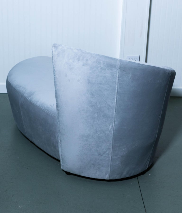 Vladimir Kagan Ultrasuede Lounge Chair For Sale 3