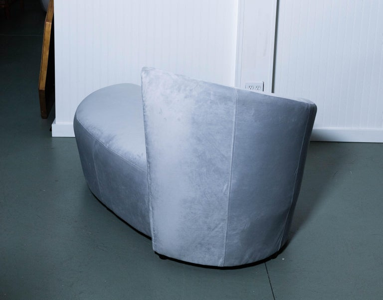 Vladimir Kagan Ultrasuede Lounge Chair For Sale 4