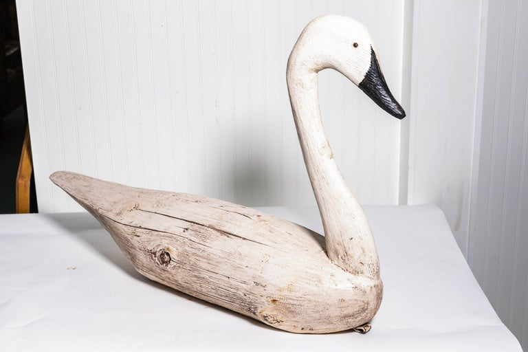 Pair of Monumental Swan Decoy's Early 1900s For Sale 3