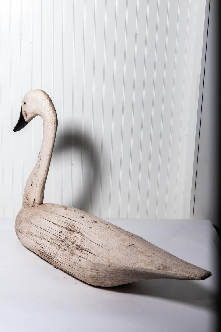 Pair of Monumental Swan Decoy's Early 1900s For Sale 5