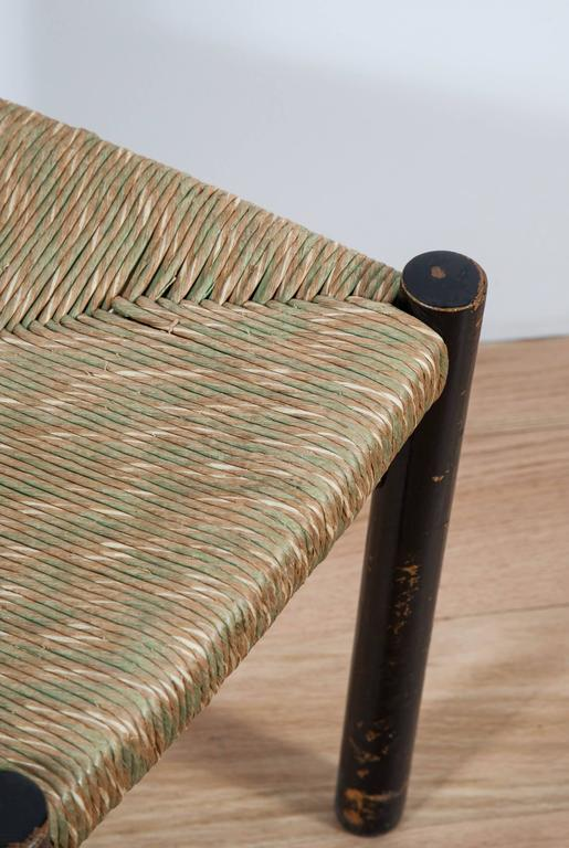 French Charlotte Perriand, Rush Seated Chair For Sale