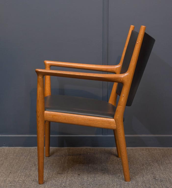 Danish Hans J Wegner Lounge Chair For Sale