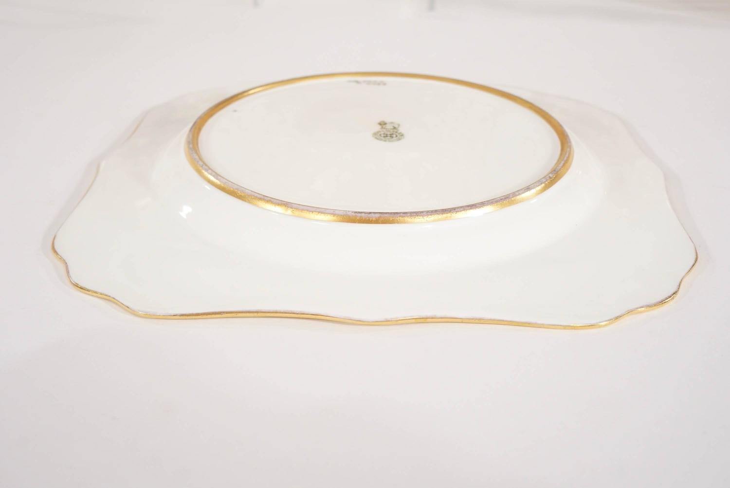 square dessert plates signed curnock raised gold for sale at 1stdibs
