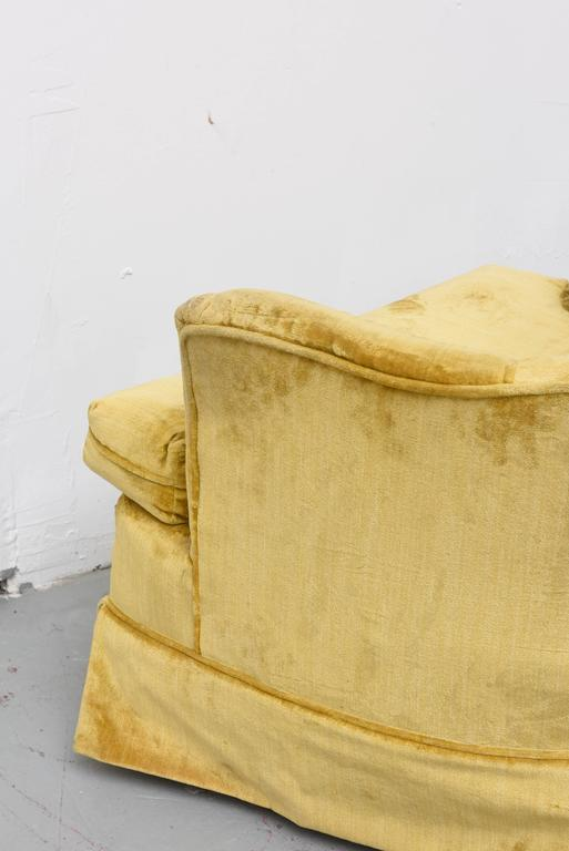 High Back Swivel Tufted Rocker/Lounge Chairs, 1960s USA For Sale 1