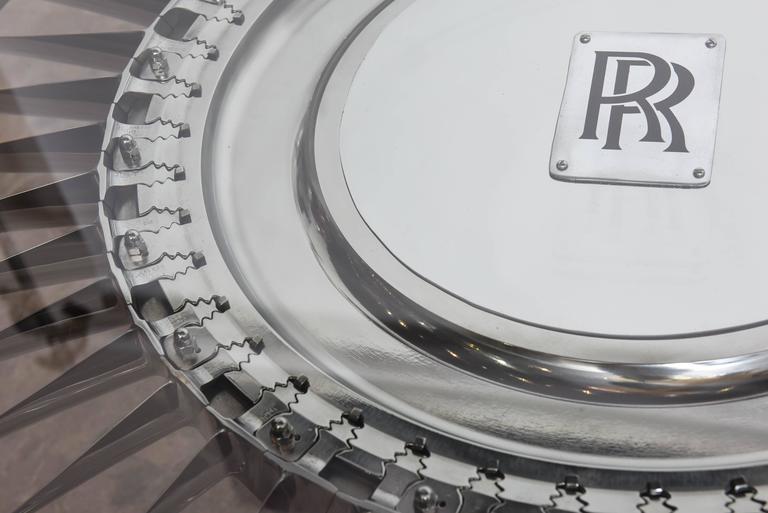 20th Century Large Rolls-Royce Titanium Turbine Table For Sale