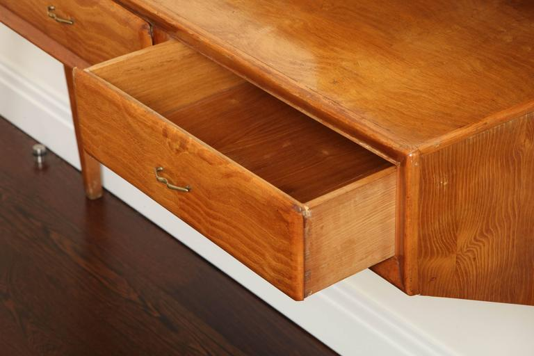 Italian Mid-Century Modern Cherrywood Console Table For Sale 1