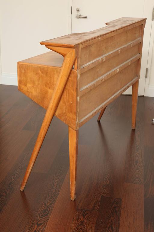 Italian Mid-Century Modern Cherrywood Console Table For Sale 3