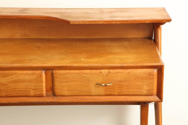 Italian Mid-Century Modern Cherrywood Console Table For Sale 5