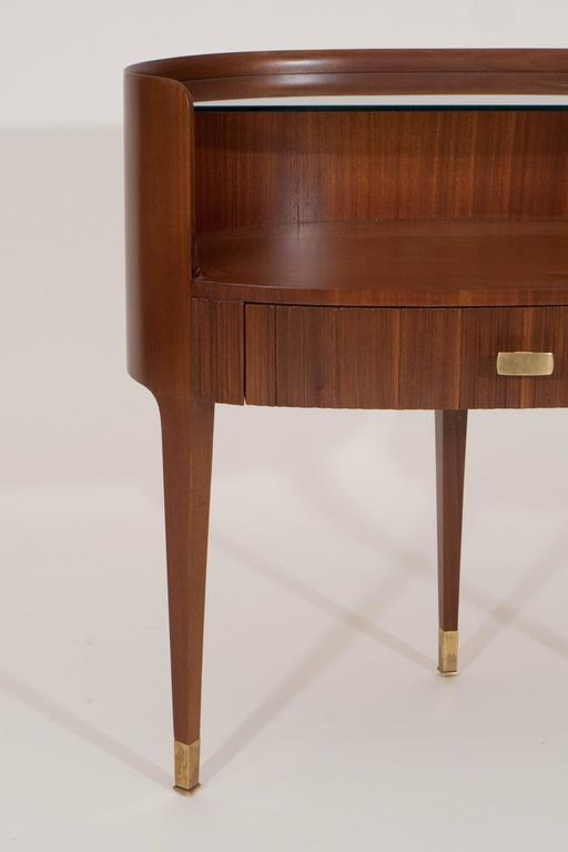 Mahogany and Rosewood Paola Buffa Bedside Tables, Italy, 1950s 3