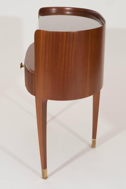 Mahogany and Rosewood Paola Buffa Bedside Tables, Italy, 1950s 7