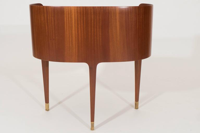 Mahogany and Rosewood Paola Buffa Bedside Tables, Italy, 1950s 9