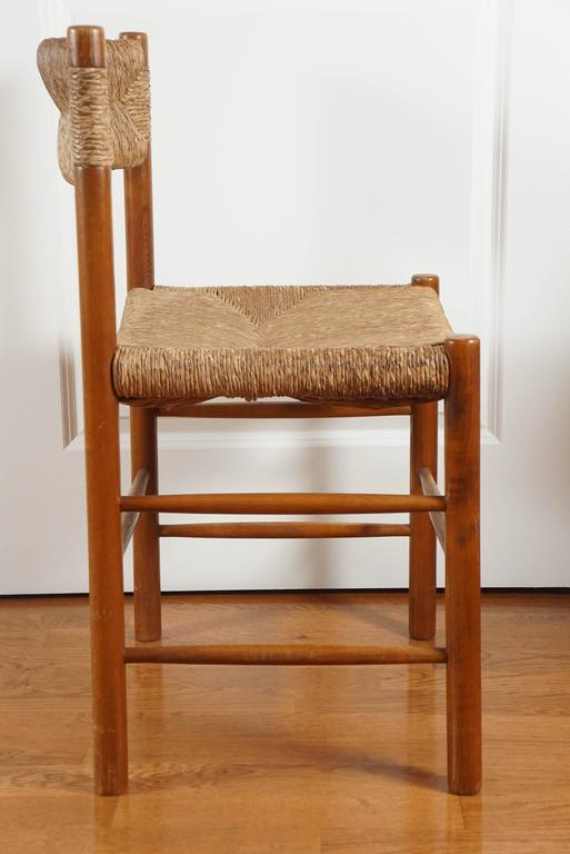 Charming, Oak And Rush Seat Dining Chair By French Designer, Pierre  Gautier Delaye