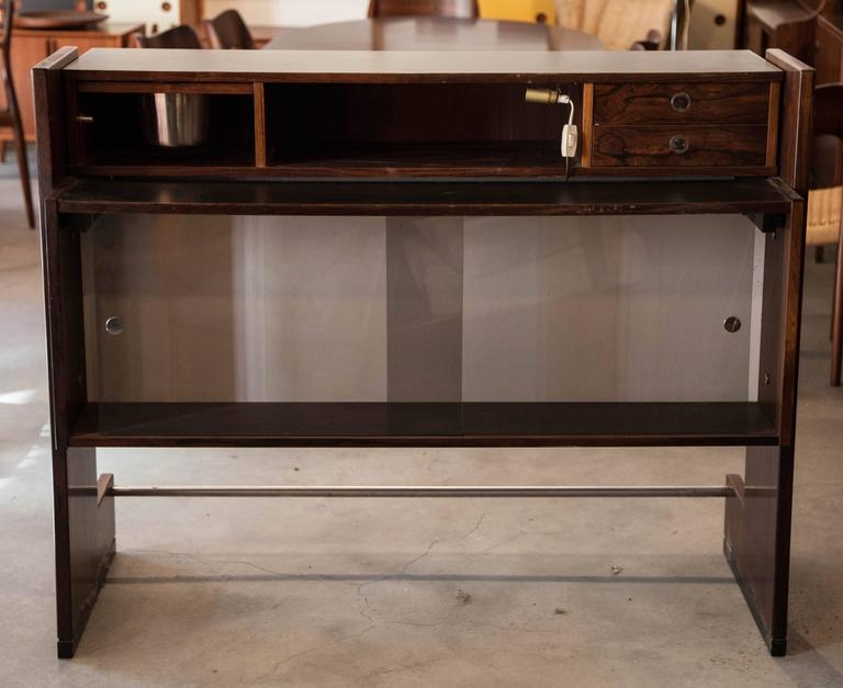 Rosewood free standing home bar by dyrlund at 1stdibs for Home dry bar furniture