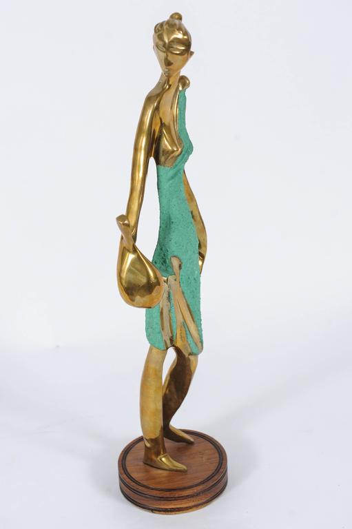 Art Deco Female Figurine in the Style of Werkstätte Hagenauer  In Good Condition For Sale In Doornspijk, NL