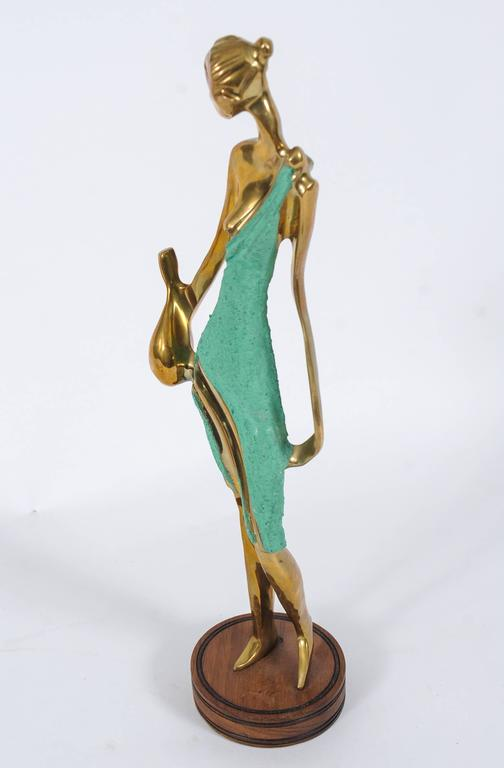 Art Deco Female Figurine in the Style of Werkstätte Hagenauer  For Sale 1
