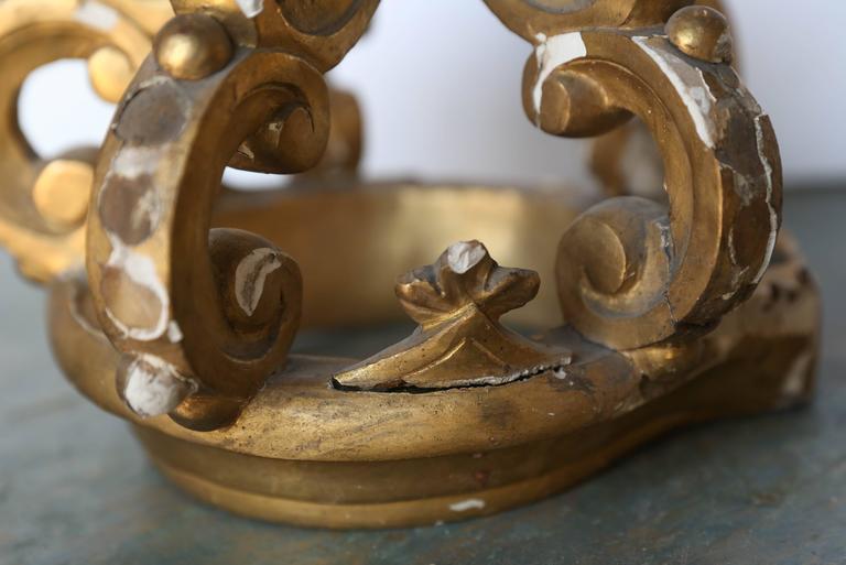 19th Century Italian Gold Gilt Crown For Sale 2