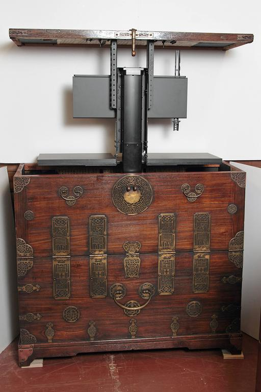 Anglo-Japanese Early 20th Century Korean Chest, Retro-Fitted for Television For Sale