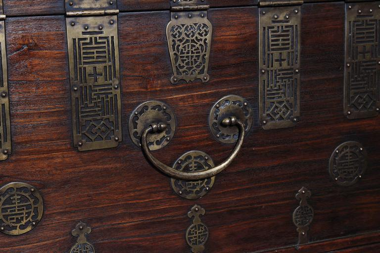 Early 20th Century Korean Chest, Retro-Fitted for Television For Sale 1