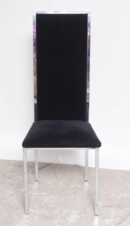 Mid century modern baughman style chrome and hi back for Mid century modern furniture hawaii