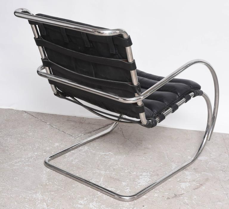 Mid Century Edition Bauhaus Mies Van Der Rohe Mr Lounge Chairs By Knoll For