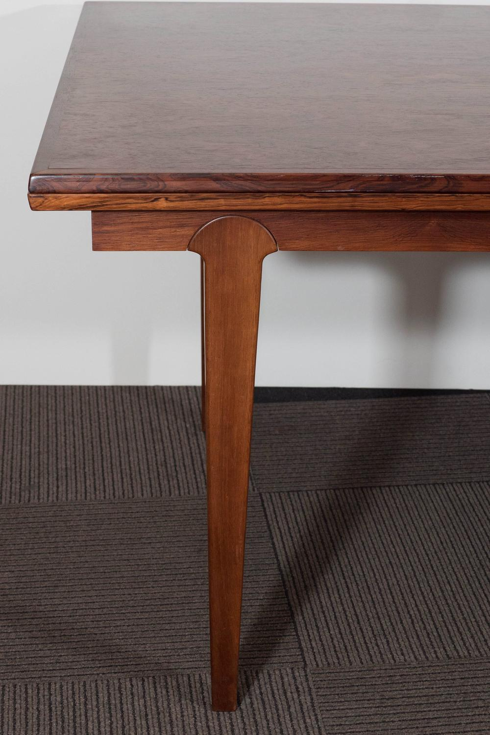 Scandinavian Midcentury Dining Table With Extension Leaves At 1stdibs