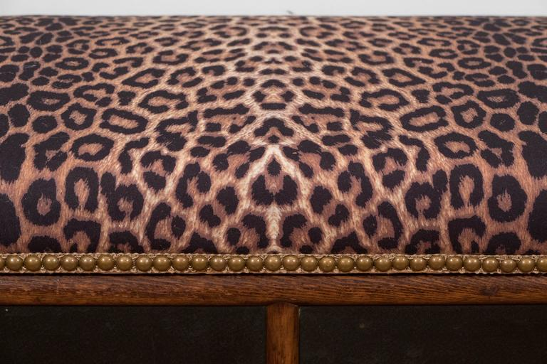 Ebonized Victorian Faux Bamboo Storage Bench With Upholstered Cushioned  Seat For Sale