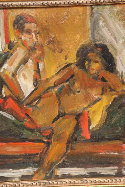 Mid-Century Modern Painting by Eduardo Rouario, circa 1968 For Sale