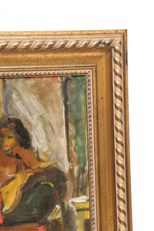 Hand-Painted Painting by Eduardo Rouario, circa 1968 For Sale
