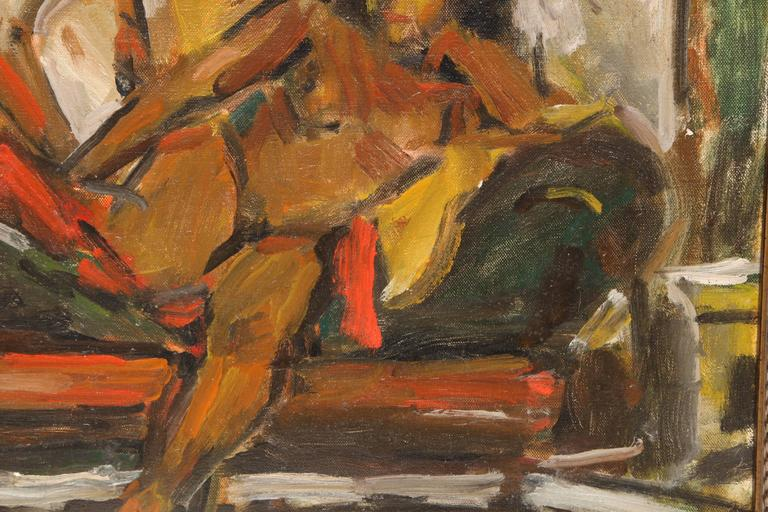 Painting by Eduardo Rouario, circa 1968 In Excellent Condition For Sale In New York, NY