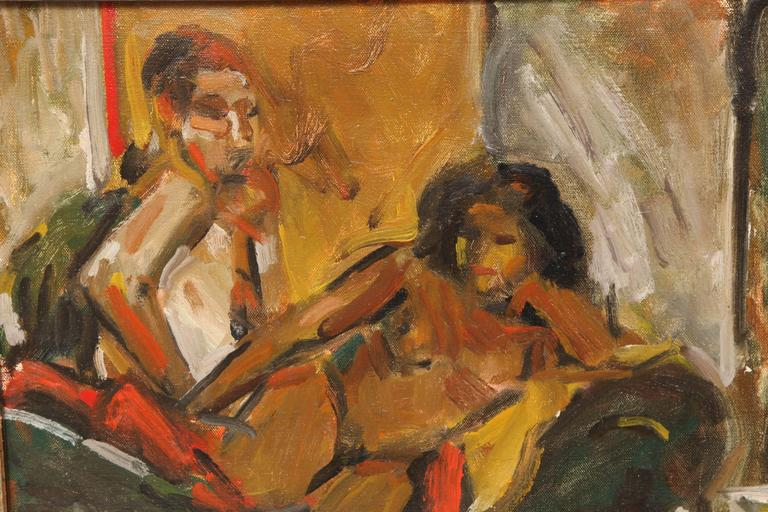 Mid-20th Century Painting by Eduardo Rouario, circa 1968 For Sale